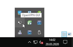 Die Verbindung zu openVPN wird hergestellt.